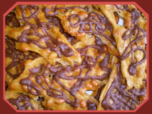 Chocolate Webbed Ultra Thin Peanut Brittle